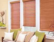 Horizontal blinds are ideal for windows where bright sun and great views come together. You want the view but you can't have the sun pounding in.