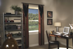 Draperies by Silverline Specialties can completely alter the style and warmth of a room.