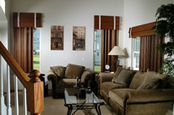 When considering draperies, think about the atmosphere of a room as well as the functionality of the drapes.